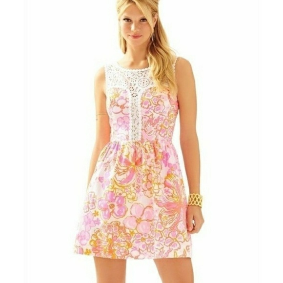 17669cd0a932a9 Lilly Pulitzer Dresses & Skirts - 1 Day SALE LillyPulitzer Raegan Dress  Happiness Is